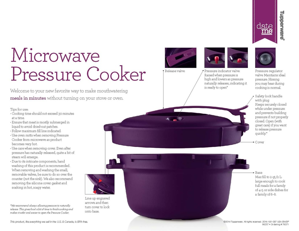 tupperware stack cooker instructions